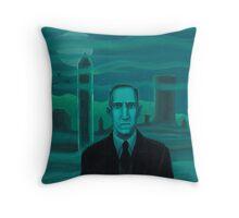 HP Lovecraft the explorer Throw Pillow