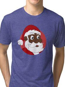 Santa Claus cartoon Tri-blend T-Shirt