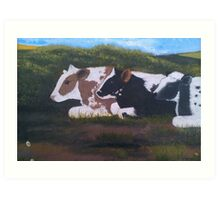 Lazy Cows Art Print