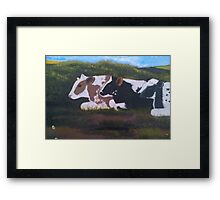 Lazy Cows Framed Print