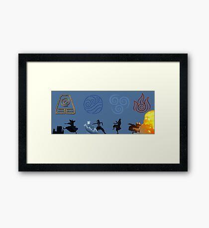 4 Avatars  Framed Print