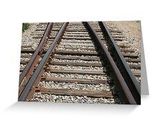 Steel Railway Tracks Greeting Card