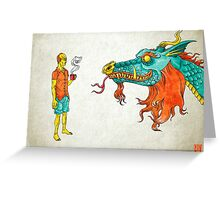 Morning Dragon Greeting Card