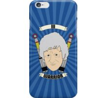 Doctor Who Portraits - Third Doctor - Warrior iPhone Case/Skin