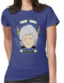 Doctor Who Portraits - Third Doctor - Warrior Womens Fitted T-Shirt
