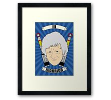 Doctor Who Portraits - Third Doctor - Warrior Framed Print