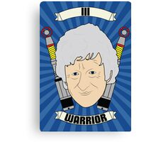 Doctor Who Portraits - Third Doctor - Warrior Canvas Print