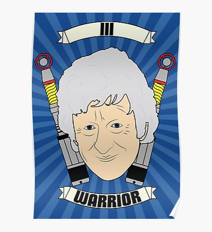 Doctor Who Portraits - Third Doctor - Warrior Poster