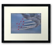 The Red Arrows - Dunsfold 2013 Framed Print