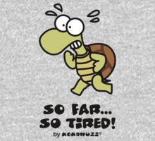 So far... so tired! Struggling turtle running One Piece - Short Sleeve