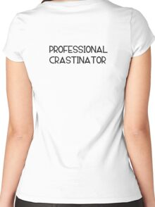 Professional Crastinator Women's Fitted Scoop T-Shirt