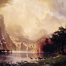 Bierstadt Albert Among the Sierra Nevada Mountains by naturematters