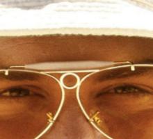 Johnny Depp in Fear & Loathing in Las Vegas Sticker