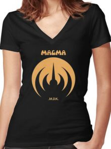 Magma MDK Women's Fitted V-Neck T-Shirt