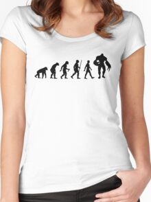 Evolution: Super Tyrant Women's Fitted Scoop T-Shirt