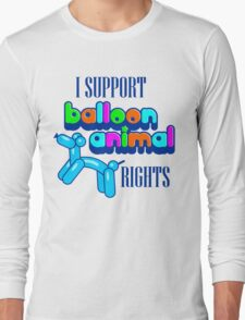 Support Balloon Animal Rights Long Sleeve T-Shirt