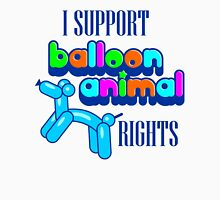 Support Balloon Animal Rights Womens Fitted T-Shirt
