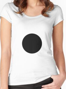 Circle Black Women's Fitted Scoop T-Shirt