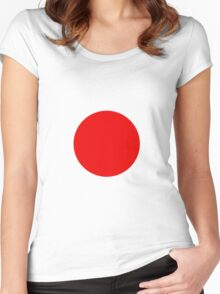 Circle Red Women's Fitted Scoop T-Shirt