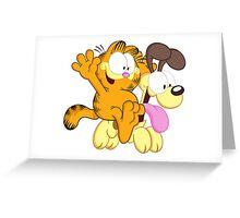 Garf happy Ride! Greeting Card