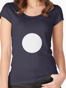 Circle White Women's Fitted Scoop T-Shirt