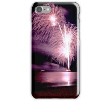Fireworks over the sea iPhone Case/Skin