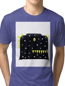 illustration of a black color  monster funny Tri-blend T-Shirt