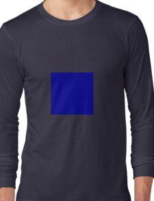 Square Blue Long Sleeve T-Shirt