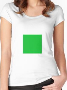 Square Green  Women's Fitted Scoop T-Shirt