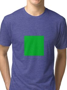 Square Green  Tri-blend T-Shirt