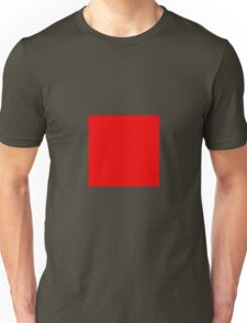 Square Red Unisex T-Shirt