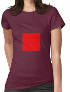 Square Red Womens Fitted T-Shirt
