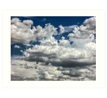 Clouds on the road to Tucson Art Print