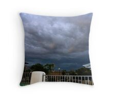Storm is brewing in Tucson Throw Pillow
