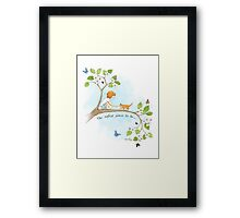 The safest place to be... Framed Print