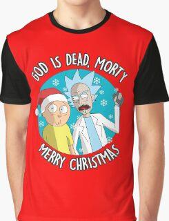 Rick & Morty -  Merry Christmas Graphic T-Shirt