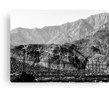 Windmills And Mountains Canvas Print