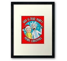 Rick & Morty -  Merry Christmas Framed Print