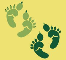Two pairs twins Ogre feet cute for Halloween! by jazzydevil