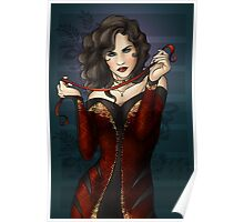 Gothic Girl With Red Ribbon Poster