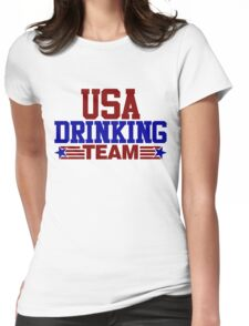 USA Drinking Team Womens Fitted T-Shirt