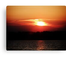 Shimmering Sunset Canvas Print