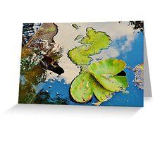 Lily Pad Frogger Greeting Card