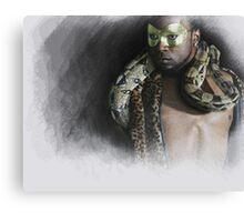 The man....the snake Canvas Print