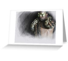 The man....the snake Greeting Card