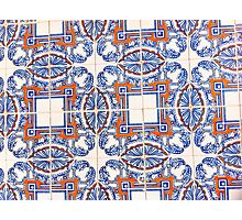 Portugal Tile Number Twenty Seven Photographic Print