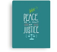 Peace as a fruit of justice illustration Canvas Print
