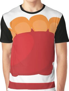 big red with orange dino on white background Graphic T-Shirt