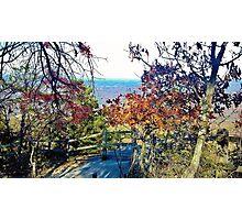 Autumn at Pilot Mountain Photographic Print