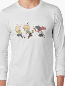 One Punch Man - Saitama, Genos and Sonic Long Sleeve T-Shirt